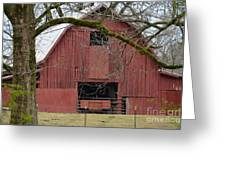Red Barn Series Picture C Greeting Card