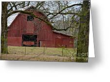 Red Barn Series Picture E Greeting Card