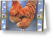 Red Baron Rooster Greeting Card
