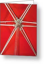 Red Beach Umbrella Greeting Card