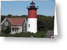 Red Beacon On Nauset Light Greeting Card