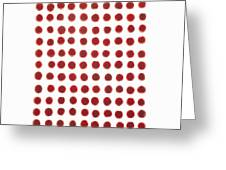 Red Berries In A Grid Greeting Card
