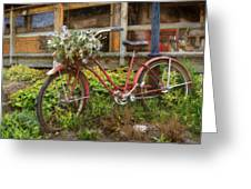 Red Bicycle Greeting Card