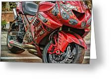 Red Bike Greeting Card