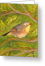 Red-billed Leiothrix Greeting Card