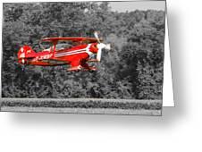 Red Biplane Greeting Card