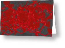 Red Black White Expressions Scramble  Black Red Greeting Card