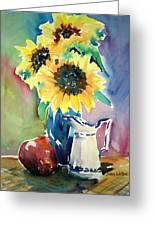 Red Blue And Yellow Greeting Card