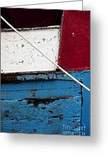 Red Blue White Greeting Card