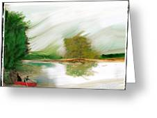 Red Boat Greeting Card