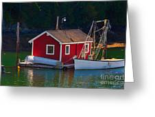 Red Boat House Greeting Card