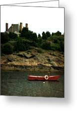 Red Boat In Newport Greeting Card