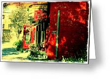 Red Brick Hotel Photograph Greeting Card