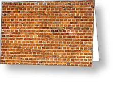 Red Brick Wall Texture Greeting Card