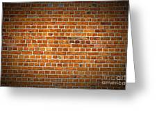 Red Brick Wall Texture With Vignette Greeting Card