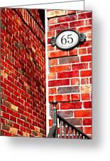 Red Bricks Greeting Card