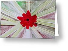 Red Brilliance Greeting Card by Sonali Gangane