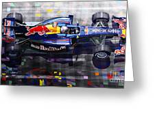 Red Bull Rb6 Vettel 2010 Greeting Card by Yuriy  Shevchuk