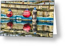 Red Buoy Reflections Of Alaska Greeting Card