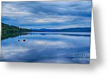 Red Buoys On Loch Rannoch Greeting Card