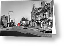 Red Bus And Red Telephone Box - 1960's    Ref-124-2 Greeting Card