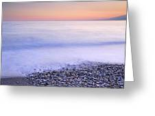 Red Calm At The Beach Greeting Card