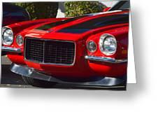 Red Camaro Greeting Card