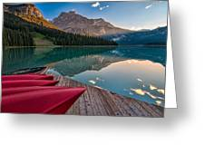 Red Canoe View Greeting Card