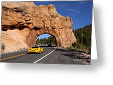 Red Canyon Near Bryce Canyon In Utah Greeting Card