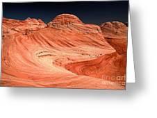 Red Canyon Swirls Greeting Card