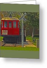 Red Car Museum In Seal Beach Ca Greeting Card