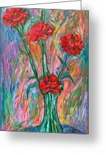Red Carnation Melody Greeting Card