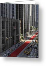 Red Carpet On 6th Ave Greeting Card