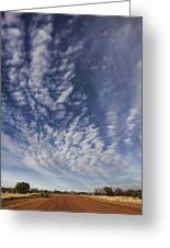 Red Center Road Greeting Card by Douglas Barnard