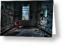 Red Chair - Art Deco Decay - Gary Heller Greeting Card by Gary Heller