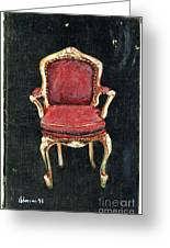 Red Chair Greeting Card by Cathy Peterson