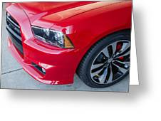 Red Charger 1508 Greeting Card