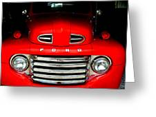 Red Cheeks Ford Greeting Card