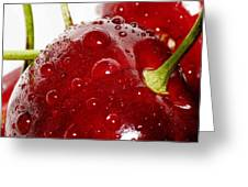 Red Cherry Greeting Card