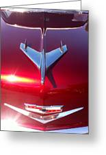 Red Chevy Car Hood  Greeting Card
