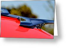 Red Chevy Hood Greeting Card