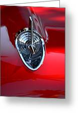 Red Chevy Hood Ornement Greeting Card