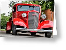 Red Chevy In Awesome Greeting Card