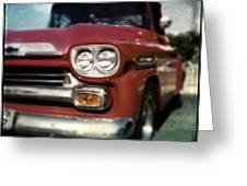 Red Chevy Pickup Greeting Card