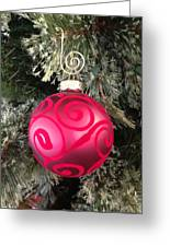 Red Christmas Ornament Greeting Card