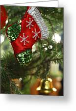Red Christmas Stocking - Available For Licensing Greeting Card