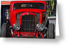 Red Classic Hotrod Greeting Card