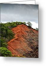 Red Cliff At Waimea Greeting Card