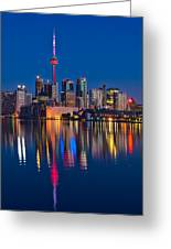 Red Cn Tower Greeting Card