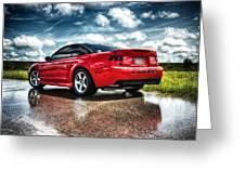 Red Cobra Rearview In Hdr Greeting Card
